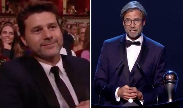 Jurgen Klopp trolls Mauricio Pochettino as Liverpool boss wins Best FIFA Men