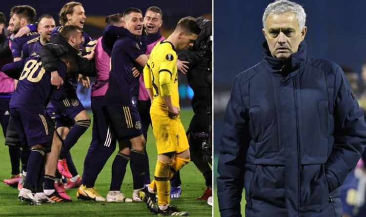 Jose Mourinho 'more than sad' as Tottenham boss blasts stars over sorry Europa League exit