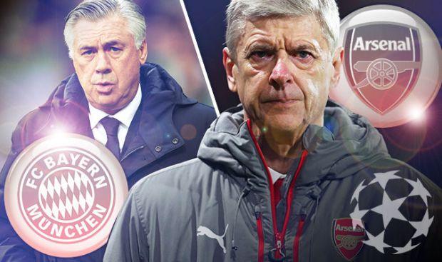 Bayern Munich v Arsenal and Real Madrid v Napoli
