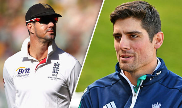 Alastair Cook and Kevin Pietersen England cricketers