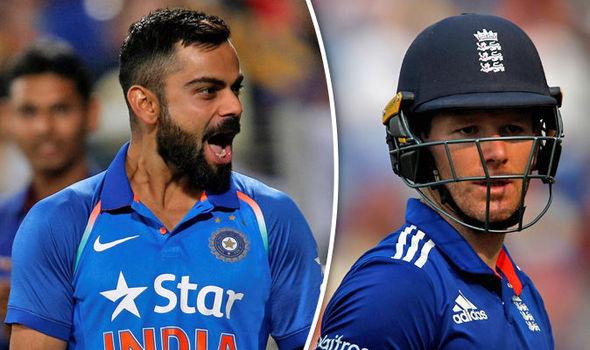 India captain Virat Kohli and England captain Eoin Morgan