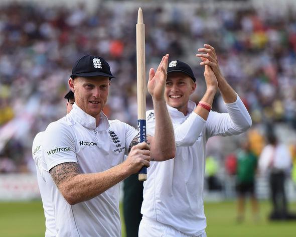 Joe Root England cricket captain and Ben Stokes