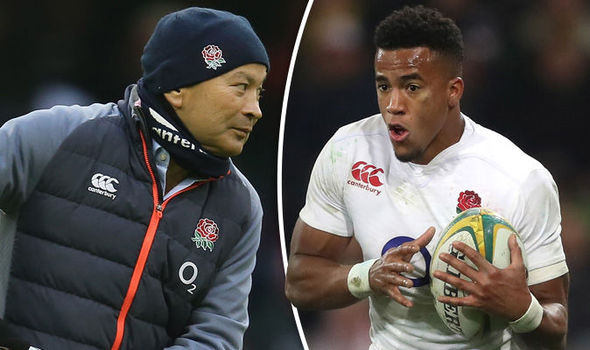 Anthony Watson England rugby player and England rugby coach Eddie Jones