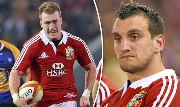British and Irish Lions Stuart Hogg and Sam Warburton
