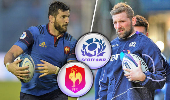 France v Scotland teams will feature Loann Goujon and John Barclay