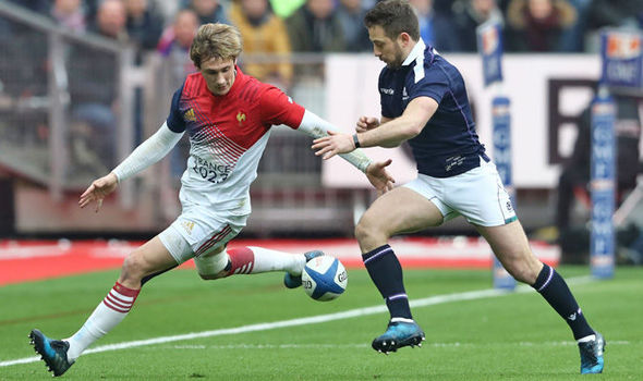 Greig Laidlaw in Scotland Six Nations action