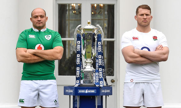 Ireland captain Rory Best and England captain Dylan Hartley