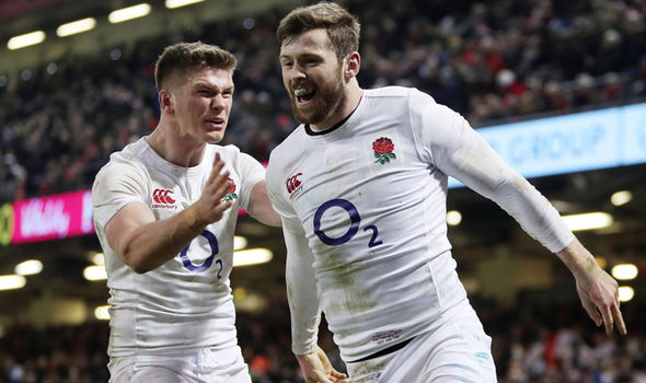 Owen Farrell and Elliot Daly England rugby