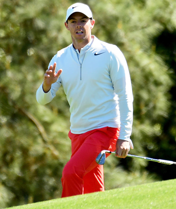 Rory McIlroy in action at Augusta