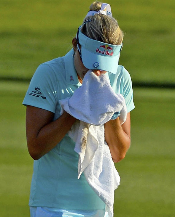 Thompson was in tears after losing a play-off to So Yeon Ryu