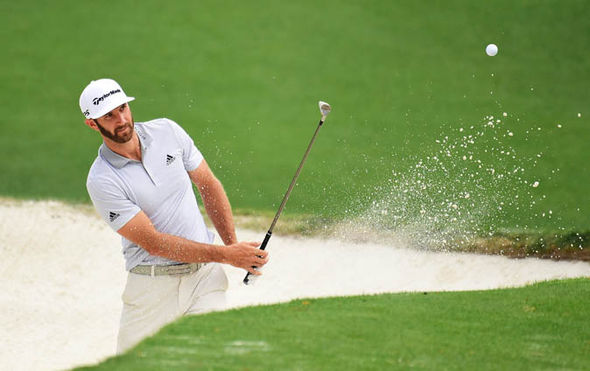 Dustin Johnson at Masters 2017