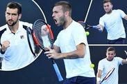 Dan Evans Marin Cilic Australian Open upset third round