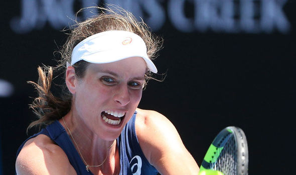 Australian Open 2017 Johanna Konta Kirsten Flipkins round one