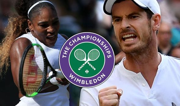 Andy Murray and Serena Williams won their Wimbledon mixed doubles opener