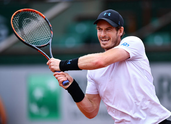 Andy Murray at the French Open