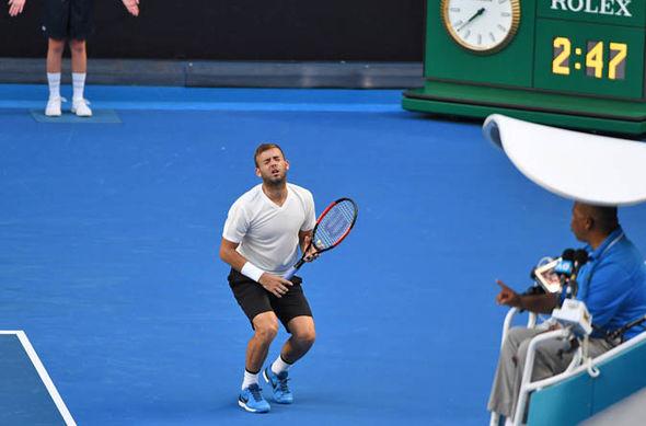Dan Evans loses in Australia
