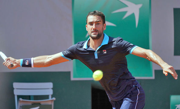 French Open 2017 player Marin Cilic
