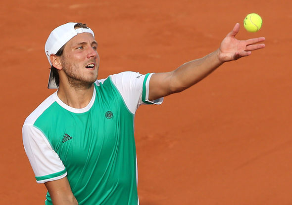 French Open player Lucas Pouille