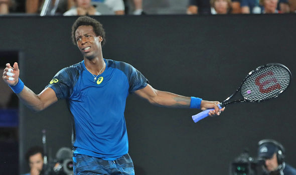 Gael Monfils at the Australian Open