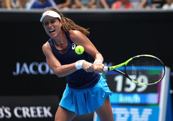 Johanna Konta in Australian Open action