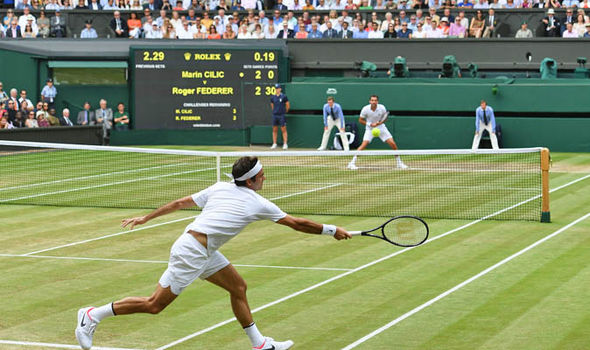 Marin Cilic was a set and a break down to Roger Federer when he began to well up