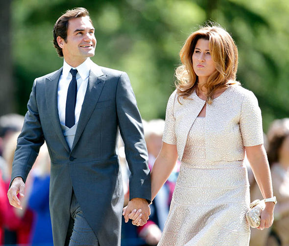 Roger Federer and his wife at Pippa Middleton's wedding