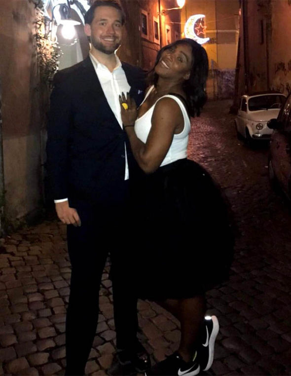 Serena Williams and her fiancee Alexis Ohanian