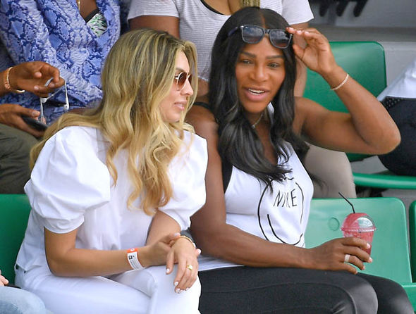 Serena Williams was in the stands to watch her sister in action