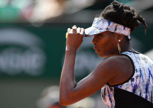 French Open 2017 schedule featuring Venus Williams