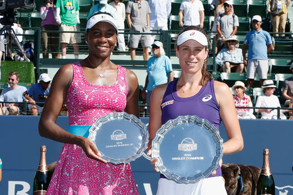 Johanna Konta and Venus Williams