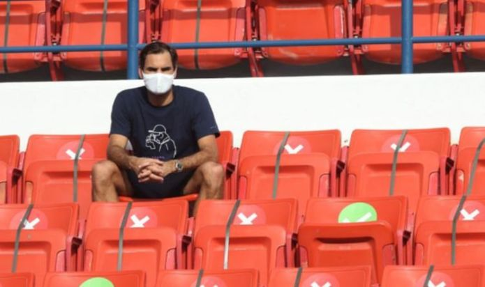 Roger Federer watches on as Dan Evans beats Jeremy Chardy to set up Qatar Open clash