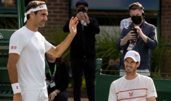 Andy Murray tests Roger Federer in 'intensive' warm-up match at Wimbledon