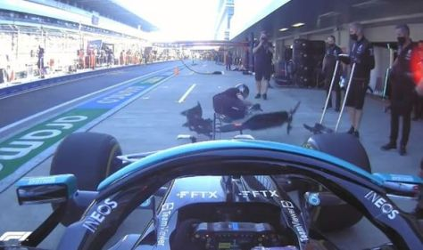 Lewis Hamilton runs over mechanic in scary incident during Russian GP practice