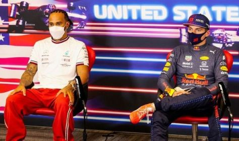 Max Verstappen's blunt response to Lewis Hamilton rivalry question at US Grand Prix