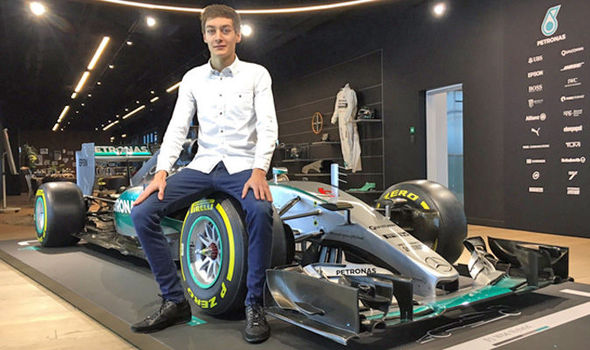 George Russell Mercedes young driver