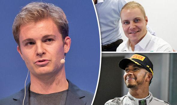 Nico Rosberg, Lewis Hamilton and Valtteri Bottas