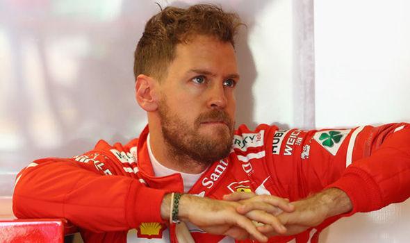 Ferrari F1 driver Sebastian Vettel