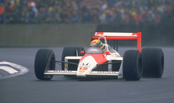 British Grand Prix at Silverstone featuring Ayrton Senna