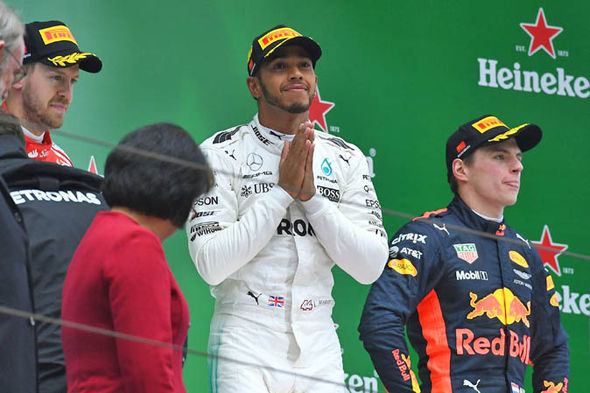 Hamilton and Vettel are both level on points with one win each