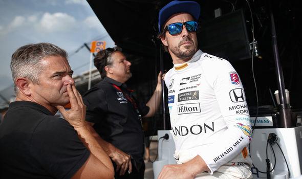Indy 500 driver Fernando Alonso