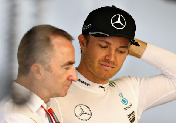 Paddy Lowe and Nico Rosberg at Mercedes