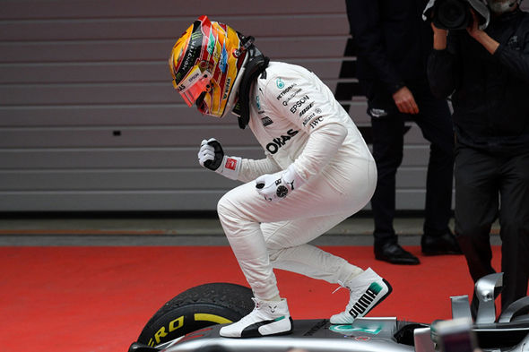 Lewis Hamilton Mercedes F1 driver and Chinese Grand prix winner