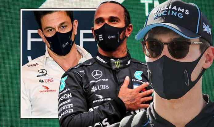 George Russell sends Lewis Hamilton message to Toto Wolff as he eyes 2022 Mercedes chance