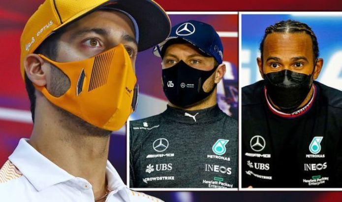 Daniel Ricciardo takes aim at Lewis Hamilton and Valtteri Bottas