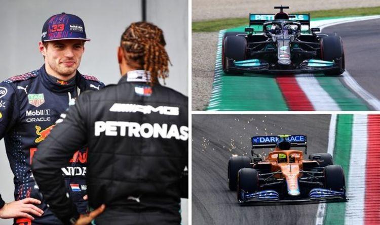 Lewis Hamilton beats Sergio Perez and Max Verstappen to take Emilia Romagna GP pole