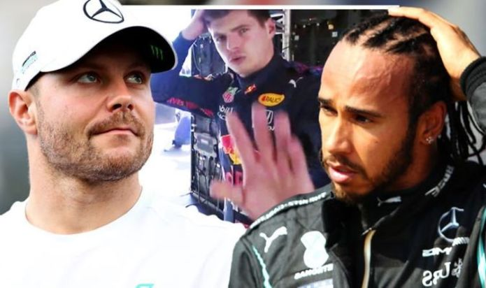 Max Verstappen frustrations spill over as Valtteri Bottas denies Lewis Hamilton 100th pole