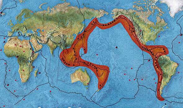 Ring Of Fire Map Live Ring Of Fire Activity Latest 33 Earthquakes