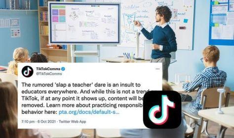 'Slap a Teacher' TikTok craze sparks backlash against app - 'Dangerous!'