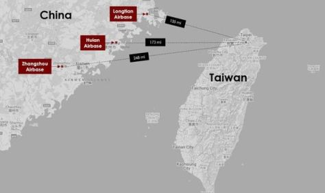 Taiwan invasion looms as new terrifying satellite images hints at Chinese air strikes plot