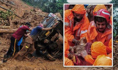 Kerala landslide LIVE: 35 dead as floods destroy homes in India – 10 dams on red alert